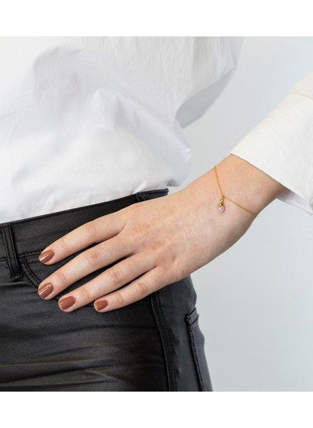 Syster P Mini Teardrop armband | goud/roze