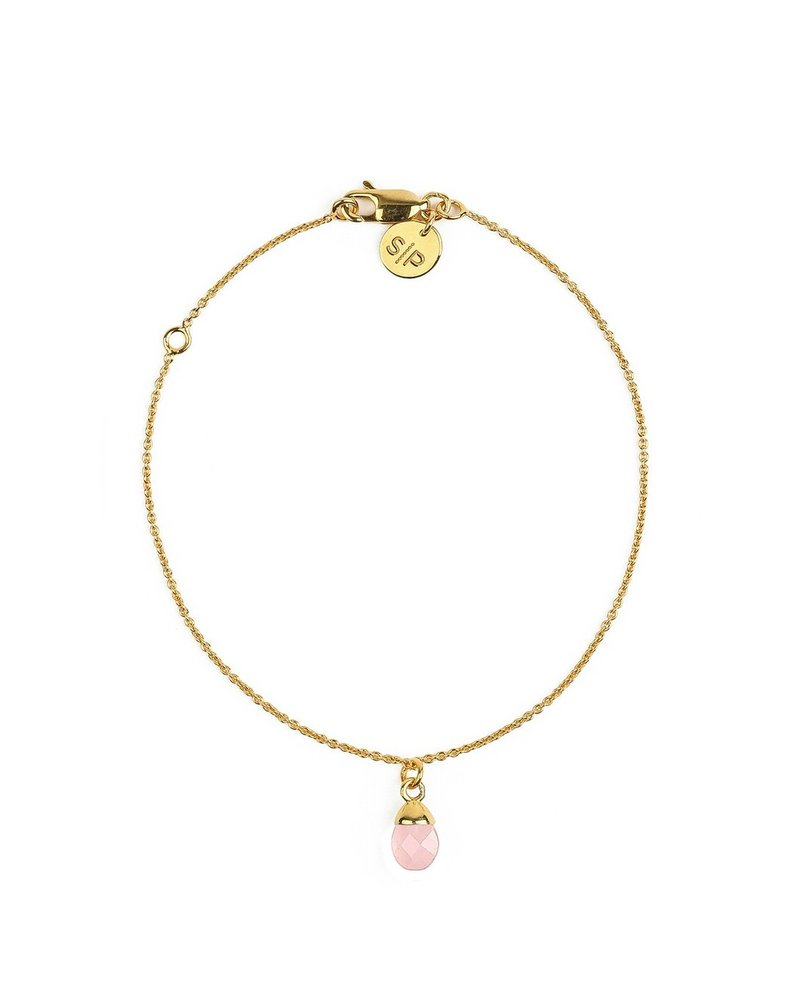 Syster P SysterP Mini Teardrop armband | goud-roze