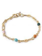Enamel Vigga armband | goud