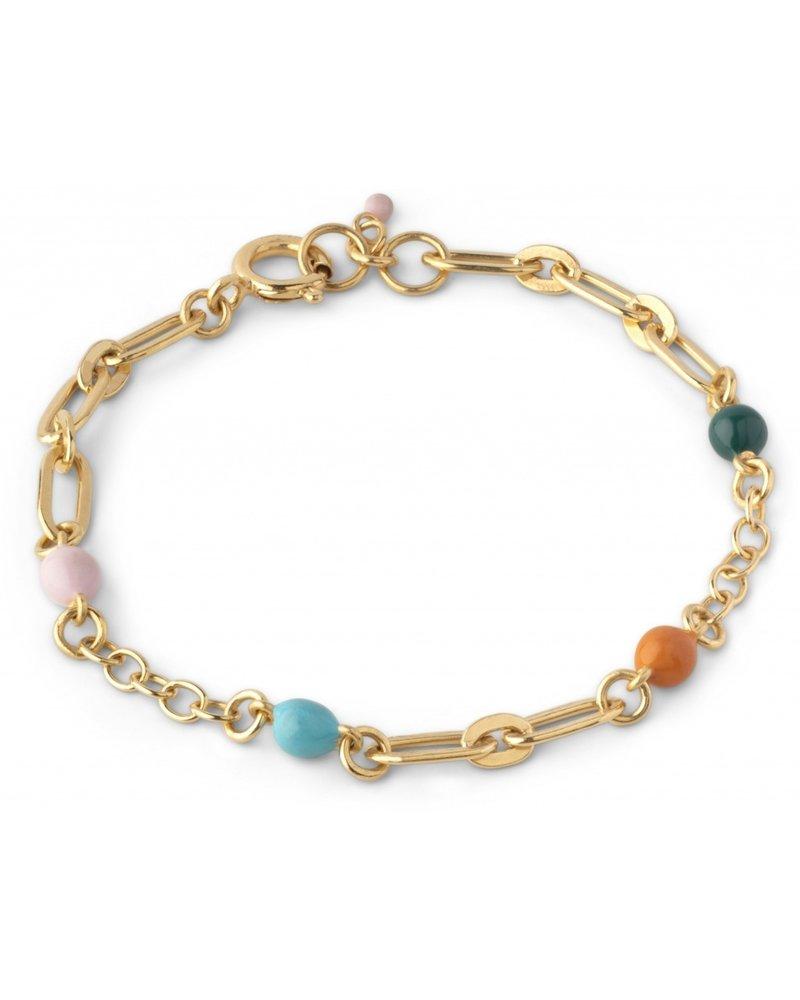 Enamel Enamel Vigga armband | goud