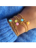 Enamel Enamel Ballchain armband kleur oud roze | goud