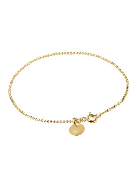 Enamel Ballchain armband kleur poeder | goud