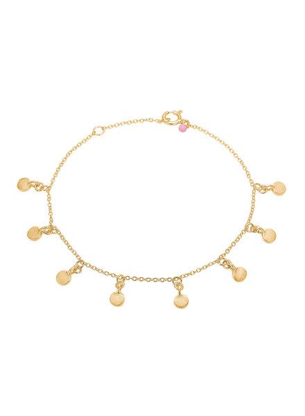 Enamel Raindrops armband  | mat goud