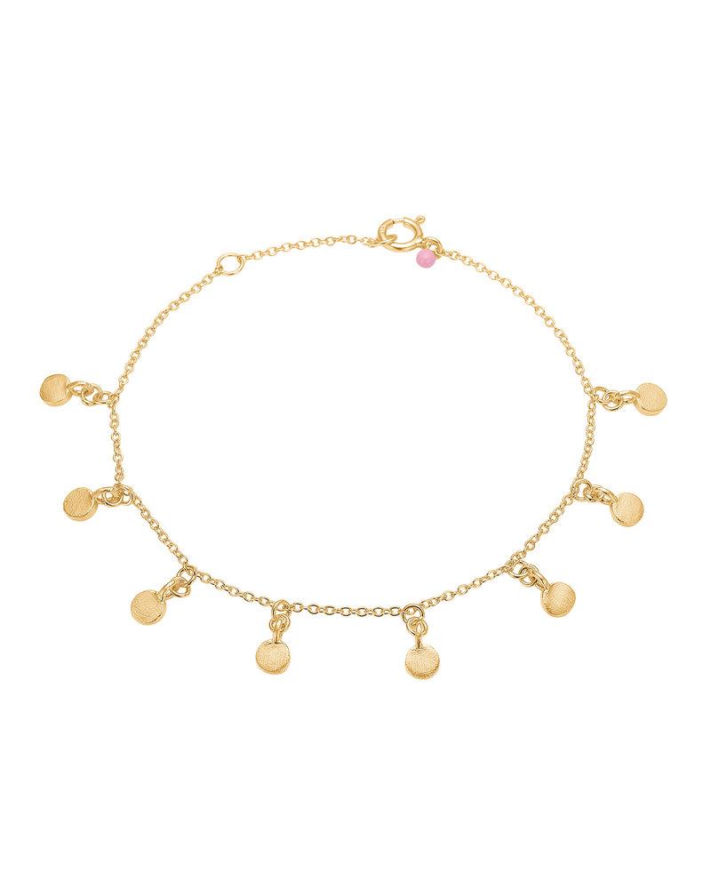 Enamel Enamel Raindrops armband  | mat goud