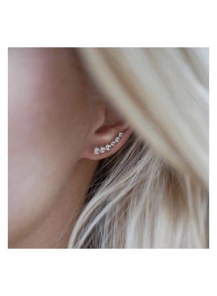 Enamel Enamel Six Dot oorbellen | goud