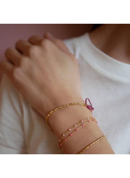 Enamel Lola armband oranje | goud