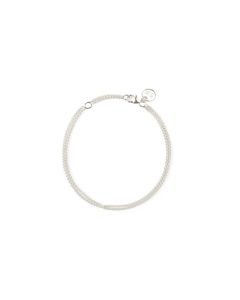 Syster P SysterP Kristine Wheat link armband | zilver
