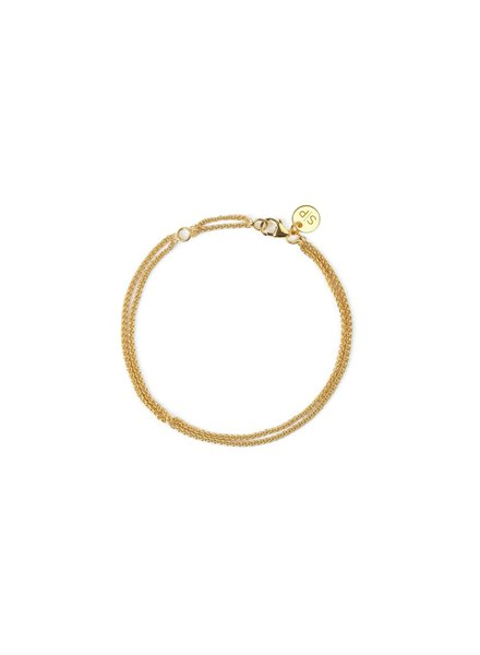 Syster P Kristine Wheat link armband | goud