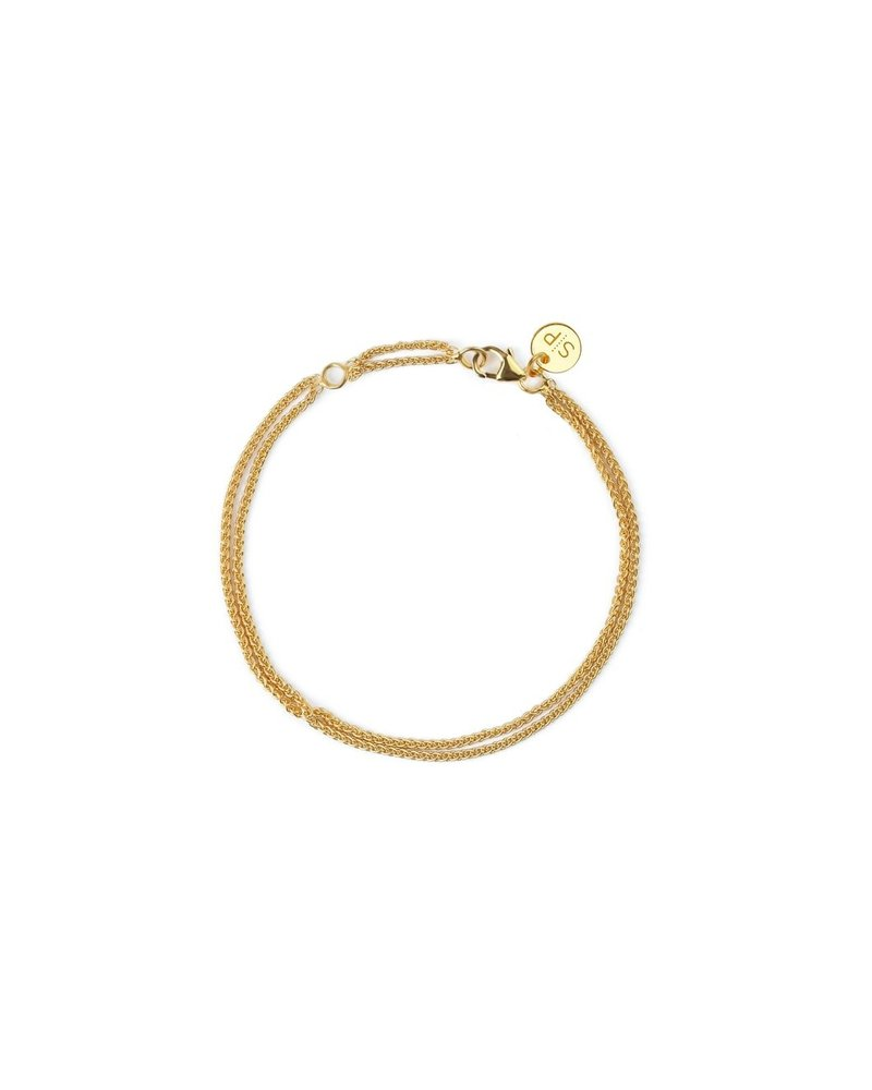 Syster P SysterP Kristine Wheat link armband | goud