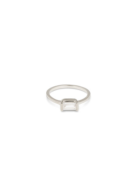 Syster P Tiny Baguette ring | zilver