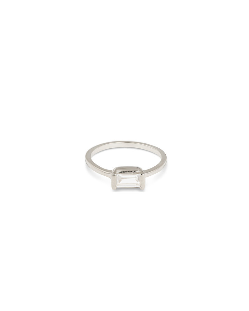 Syster P Syster P Tiny Baguette ring | zilver