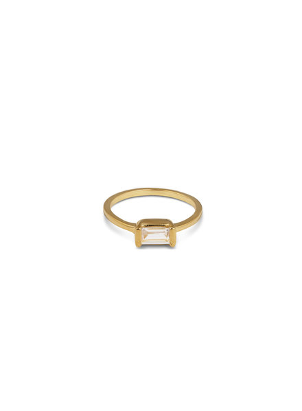 Syster P Tiny Baguette ring | goud