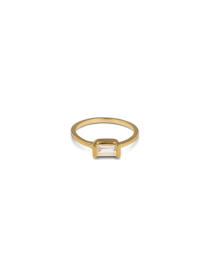Syster P Syster P Tiny Baguette ring | goud