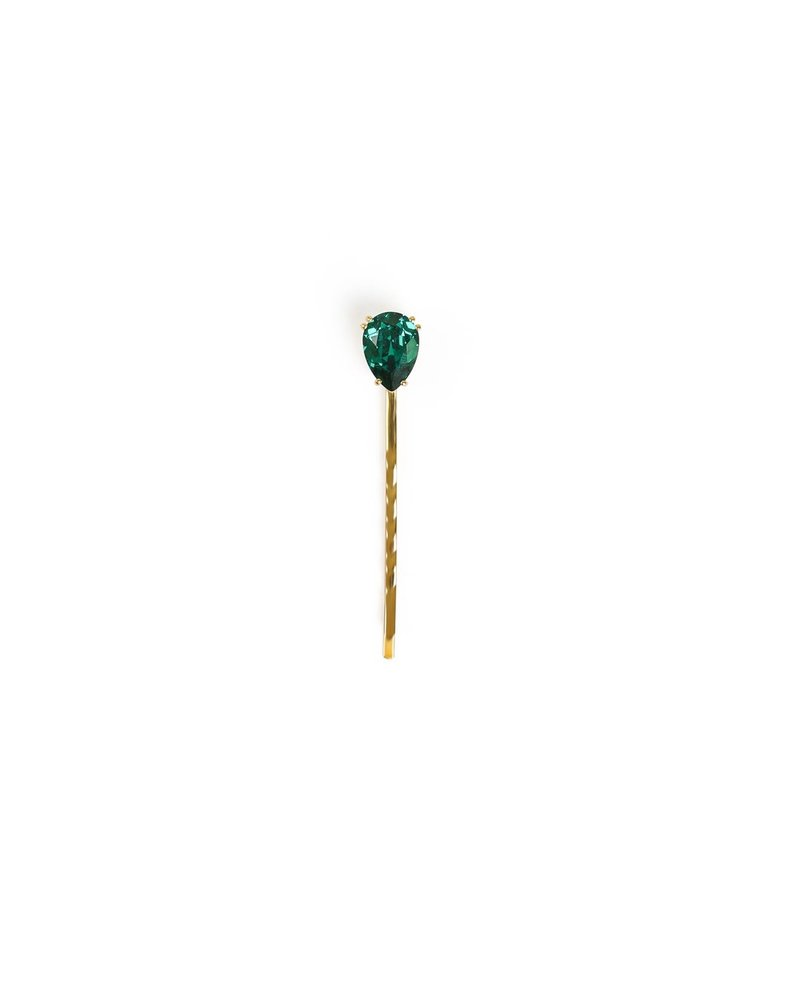Syster P SysterP Single Drop Bobby haarspeld | emerald groen