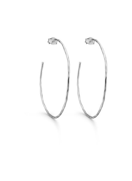 Enamel Simple oorringen | zilver