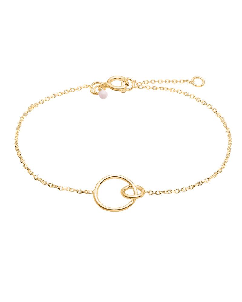 Enamel Enamel Double circle armband    goud