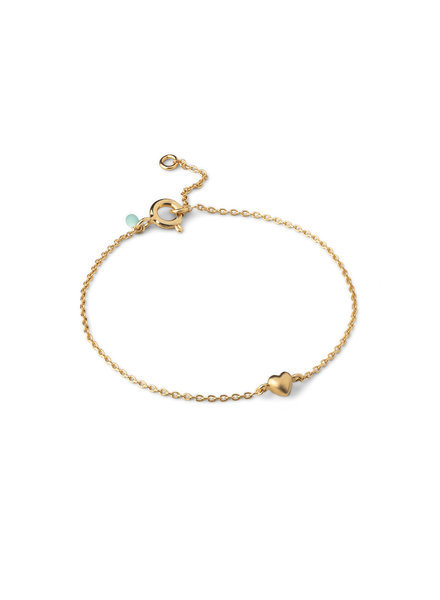 Enamel Little love armband  | goud
