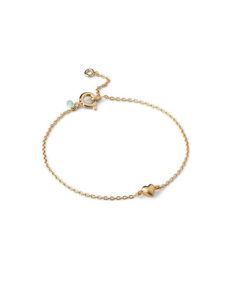 Enamel Enamel little love armband  | goud