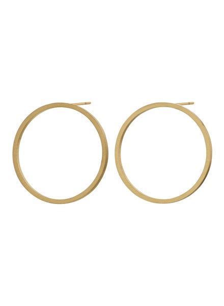 Edblad Circle oorbellen mat goud