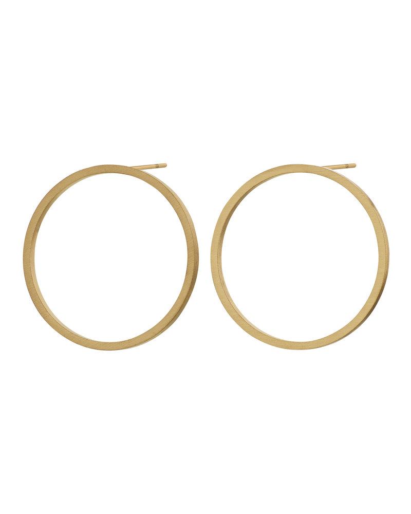 Edblad Edblad Circle oorbellen | kleur mat goud