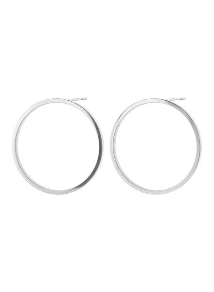 Edblad Circle oorbellen zilver