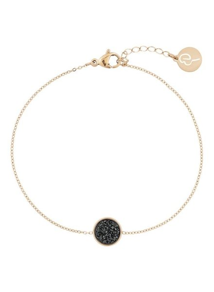 Edblad Estelle armband zwart/goud