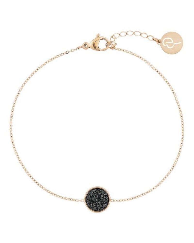 Edblad EDBLAD  Estelle armband | kleur zwart/goud