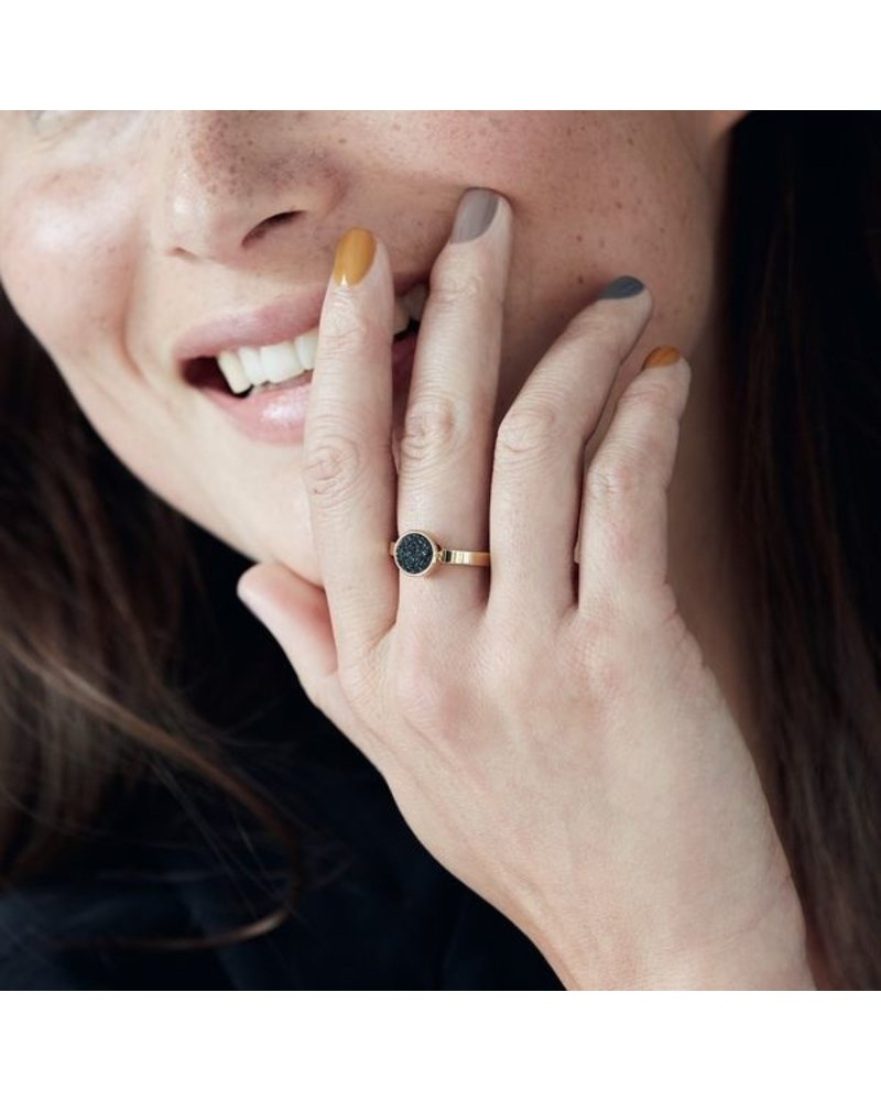 Edblad Edblad Estelle ring zwart | goud