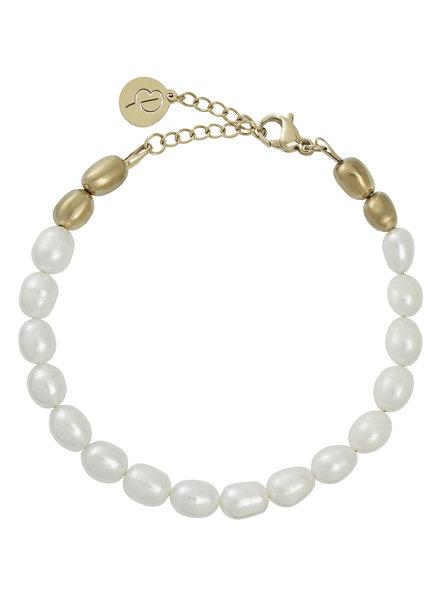 Edblad Noblesse armband mat goud met zoetwaterparels