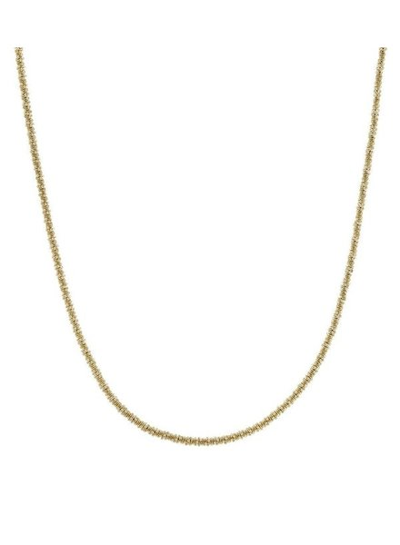 Edblad Tinsel ketting goud verguld steel 42cm