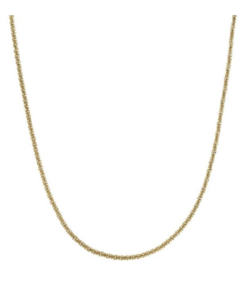 Edblad Tinsel ketting 14k goud verguld steel | 42 cm