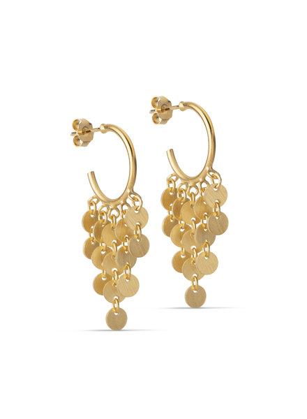Enamel Waterdrops oorbellen mat goud