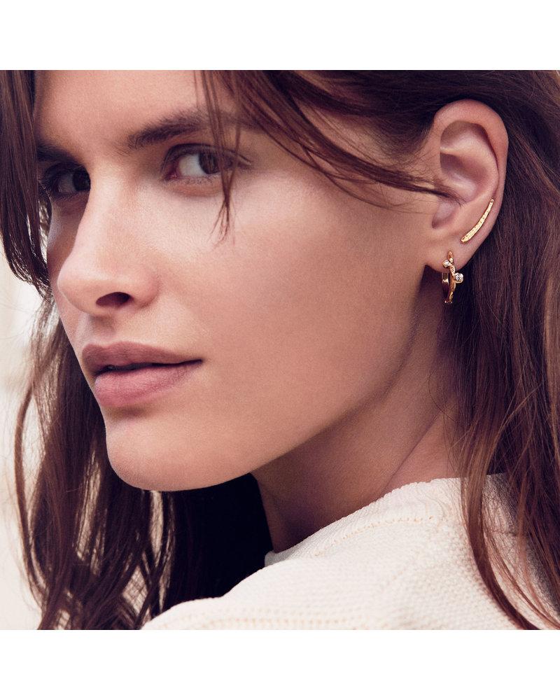 Enamel Enamel Maude oorbellen | mat zilver
