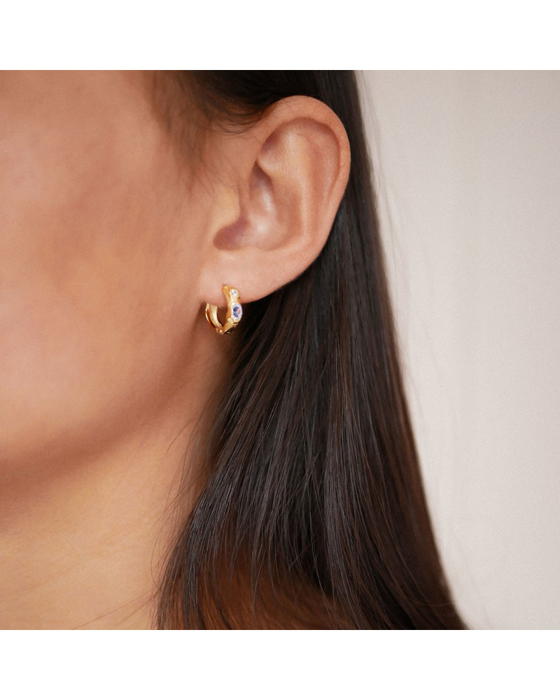 Enamel Enamel Leonora hoops |goud