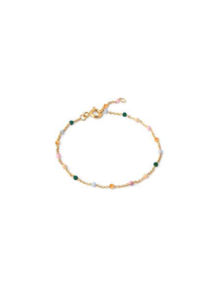 Enamel Lola armband dreamy | goud