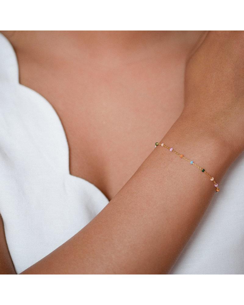 Enamel Enamel Lola armband dreamy   goud