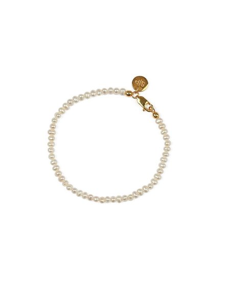 Syster P Beaches mini pearl armband goud