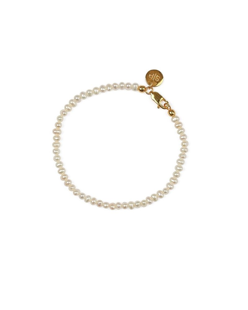 Syster P Syster P beaches mini pearl armband   goud