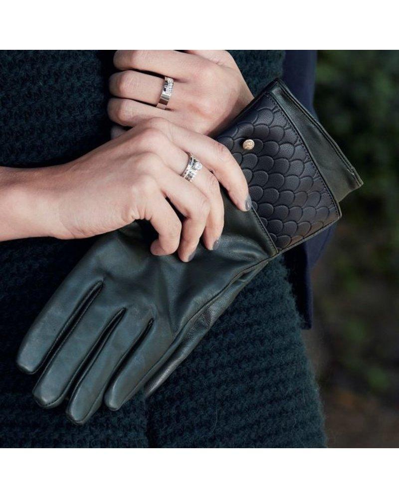 Edblad EDBLAD  leren handschoenen Tiles | kleur groen