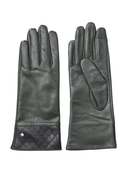 Edblad Leren handschoenen Tiles groen