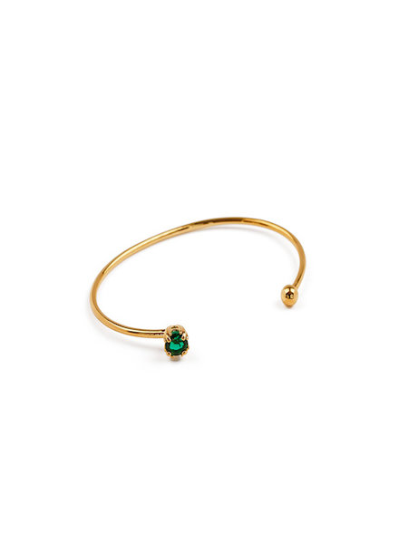 Syster P Nana bangle emerald groen goud