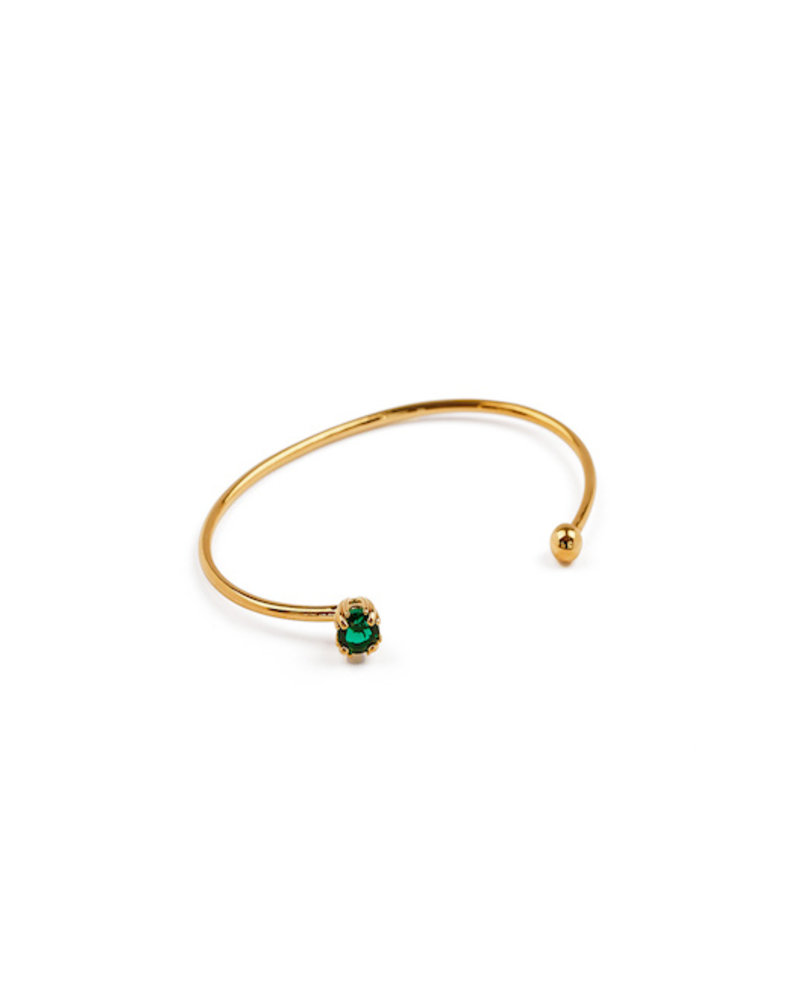 Syster P Syster P Nana bangle emerald groen | goud