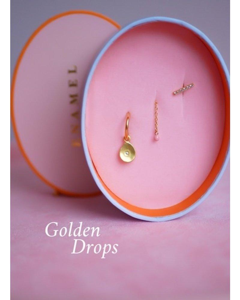 Enamel Enamel box Golden drops | goud