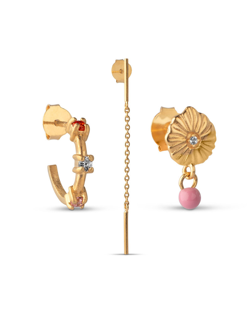 Enamel Enamel box Flamingo | goud
