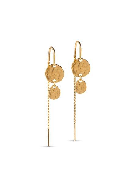Enamel Annora oorbellen | goud