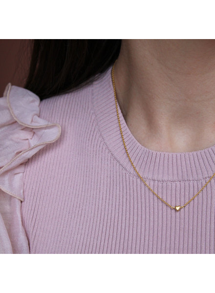 Enamel Little love ketting | goud