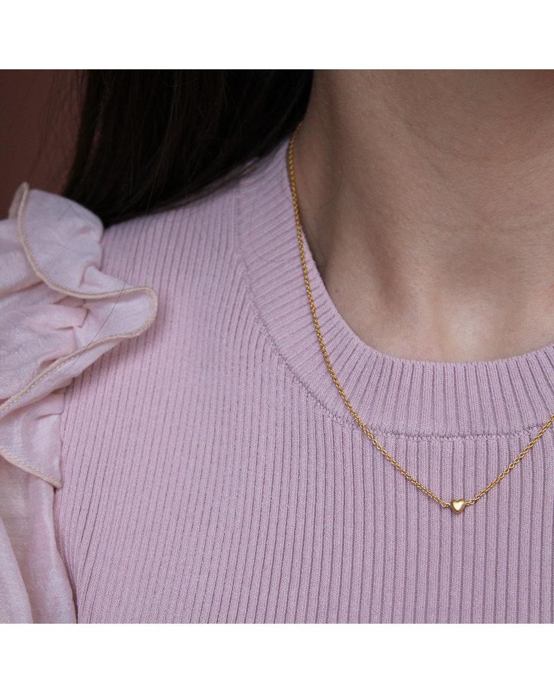 Enamel Enamel little love ketting  | goud