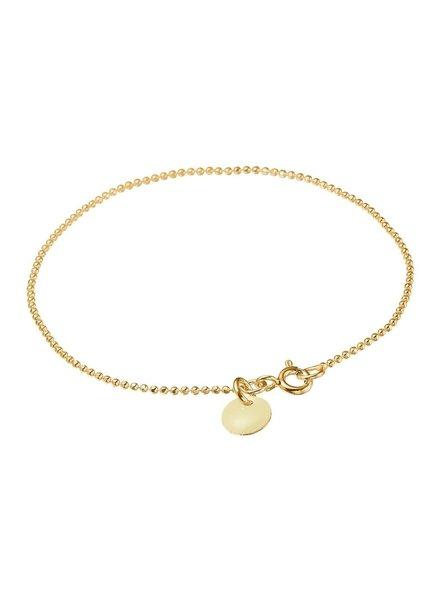 Enamel Ballchain armband beige | goud