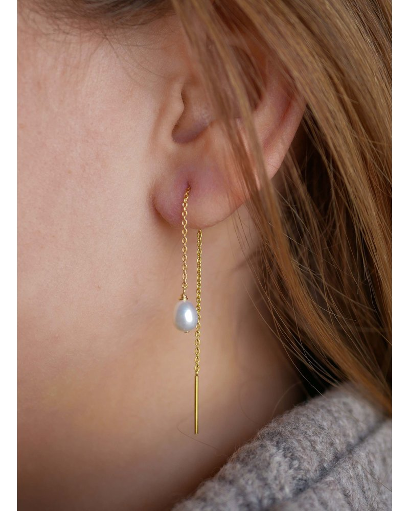 Enamel Enamel Cherie oorbellen | goud