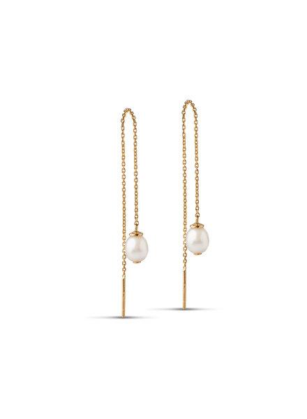 Enamel Cherie oorbellen | goud
